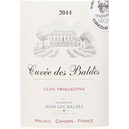 CAHORS Clos Triguedina - Cuvée des Baldès vin Rouge 2014