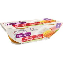 Carottes, riz et jambon, dès 8 mois