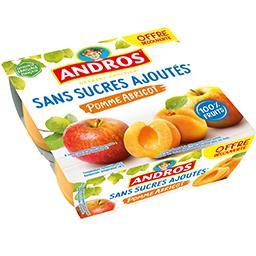 Andros Andros Dessert fruitier pomme abricot sans sucres ajoutés