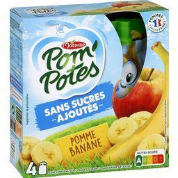 Pom'Potes - Purée pomme banane sans sucres ajoutés