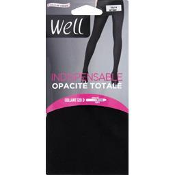 Indispensable - Collant Opacité Totale T3/4 noir ébè...