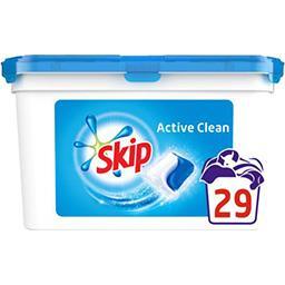 Skip Active Clean - Capsules de lessive liquide double ac...