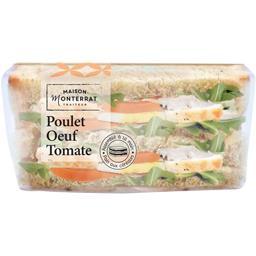 Sandwich poulet œuf tomate