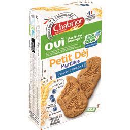 Chabrior Petit Déj - Biscuits myrtilles le paquet de 200 g