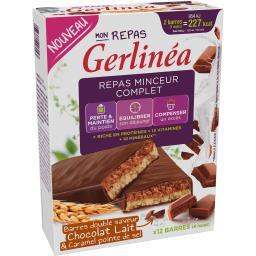 Mon Repas - Barres double saveur chocolat lait & car...