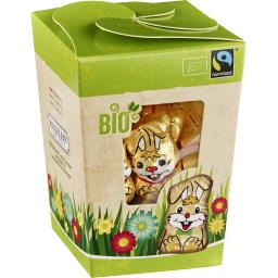 Riegelein Mini Box lapins chocolat lait BIO les 25 pièces de 5 g