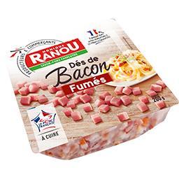 Dès de bacon fumés