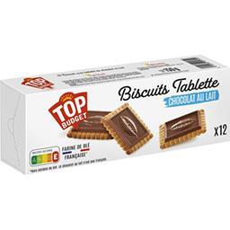 Biscuits avec tablettes de chocolat au lait
