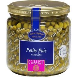 Gillet Contres Petit pois extra-fins le bocal de 275 g net égoutté