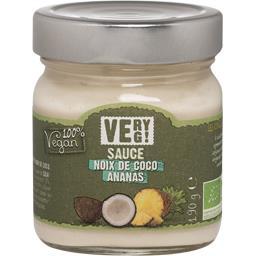 Very Veg Sauce noix de coco ananas BIO le pot de 190 g
