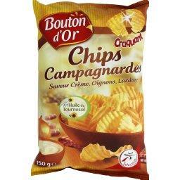 Chips campagnardes saveur crème, oignons, lardons