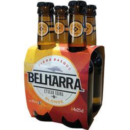 Belharra Bière Basque blonde les 4 bouteilles de 25 cl