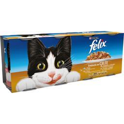 Emincés en gelée viandes et poissons pour chat