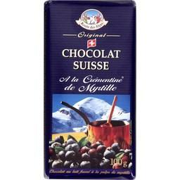 Chocolat Suisse à la crémentine de myrtille