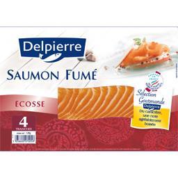 Delpierre Saumon fumé d'Ecosse le paquet de 4 tranches - 120 g