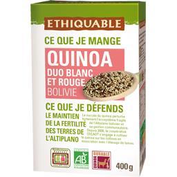 Ethiquable Quinoa duo blanc et rouge Bolivie BIO la boite de 400 g