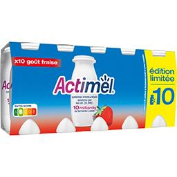 Actimel - Lait fermenté à boire goût fraise