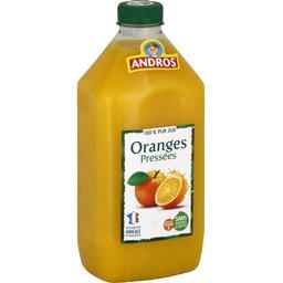 100% pur jus d'oranges pressées