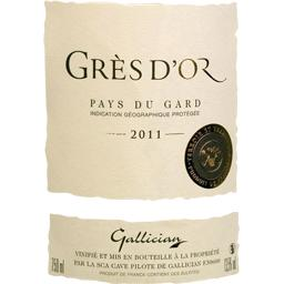 Vin blanc de pays du Gard Grès d'Or vin blanc