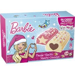 Barbie Notre Sélection Bûchettes  fraise/vanille et vanille/chocolat