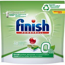Finish Powerball - Tablettes lave-vaisselle Tout en Un 0%