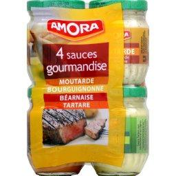 Assortiment sauces gourmandises