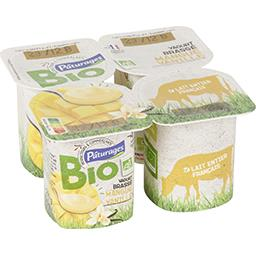 Yaourt brassé mangue vanille BIO