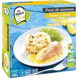 Les Toqués Bio Pavé de saumon sauce citron riz cuisiné petits légum... la boite de 280 g