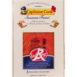 Saumon fumé au bois de hêtre salé au sel sec Label Rouge
