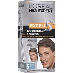 Men Expert Excell 5 minutes, 5 châtain naturel, gel-...