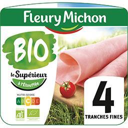 Fleury Michon Jambon Le Supérieur sans couenne BIO sel réduit