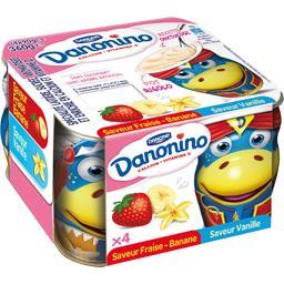 Danonino - Spécialité laitière fraise-banane et vanille