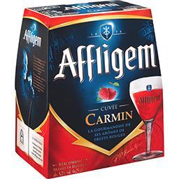 Bière cuvée Carmin brassin aux arômes de fruits rouges