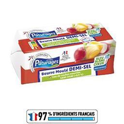 Pâturages Beurre moulé demi-sel la plaquette de 250 g