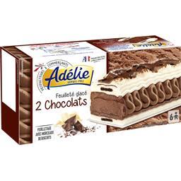 Feuilleté glacé 2 chocolats