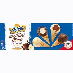 Mini-cônes chocolat/vanille