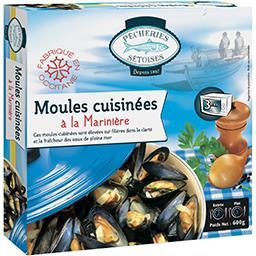 Moules cuisinées à la marinière