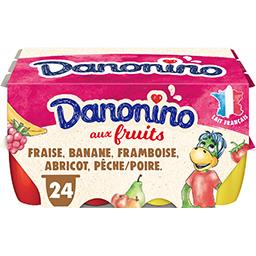 Danone Danone Danonino - Fromage blanc sucré au fruits les 24 pots de 50 g