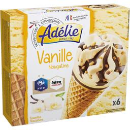 Cônes vanille nougatine