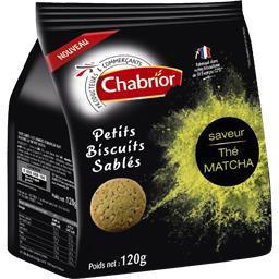 Chabrior Petits biscuits sablés saveur the matcha le paquet de 120 g