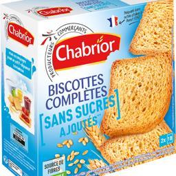 Biscottes complètes sans sucres ajoutés