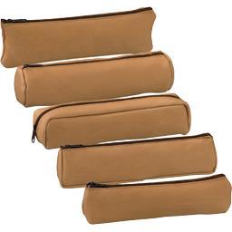 Fourre-tout cuir naturel beige modèles assortis