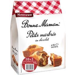 Bonne Maman Petits marbrés au chocolat le paquet de 10 - 360 g