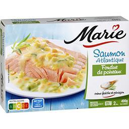 Saumon Atlantique fondue de poireaux