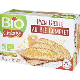 Bio Chabrior Pain grillé au blé complet BIO la boite de 12 tranches - 250 g
