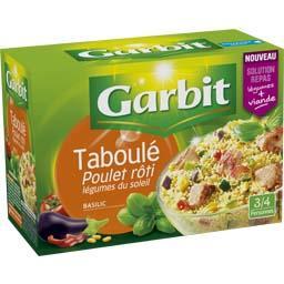 Taboulé poulet rôti légumes du soleil basilic
