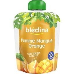 Blédina Pomme mangue orange, de 10 mois à 36 mois la gourde de 90 g