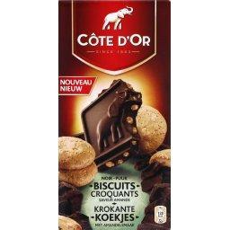 Chocolat noir biscuits croquants saveur amande
