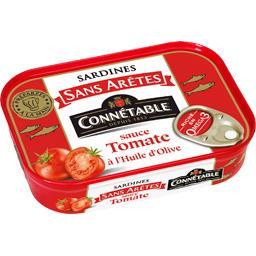Sardines sans arêtes sauce tomate à l'huile d'olive