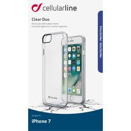 Coque silicone bi matière translucide pour iPhone 7/8